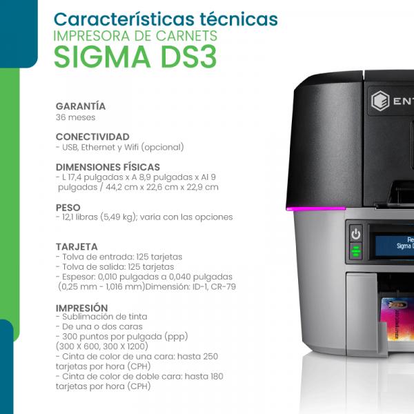 Características técnicas impresora