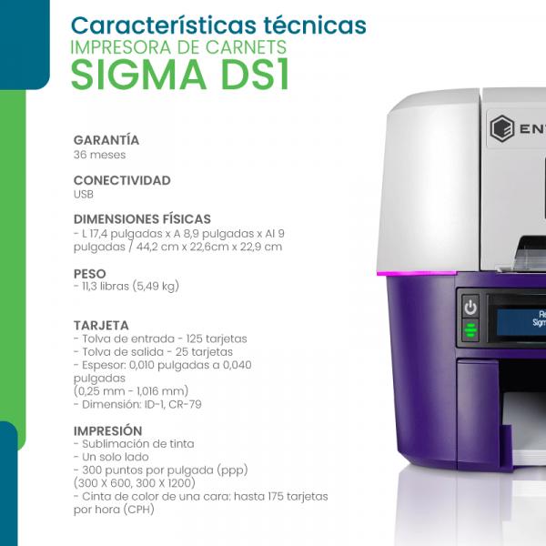Características técnicas impresora DS3
